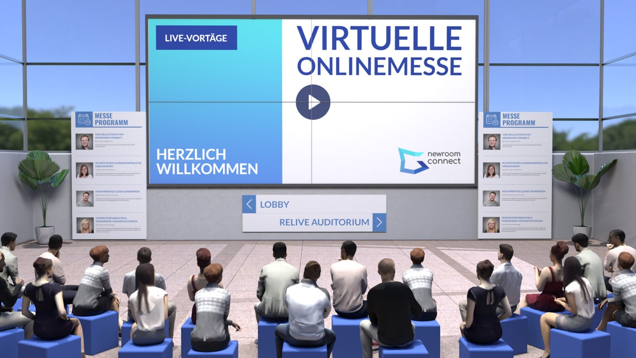 Virtual Auditorium of an Online Expo