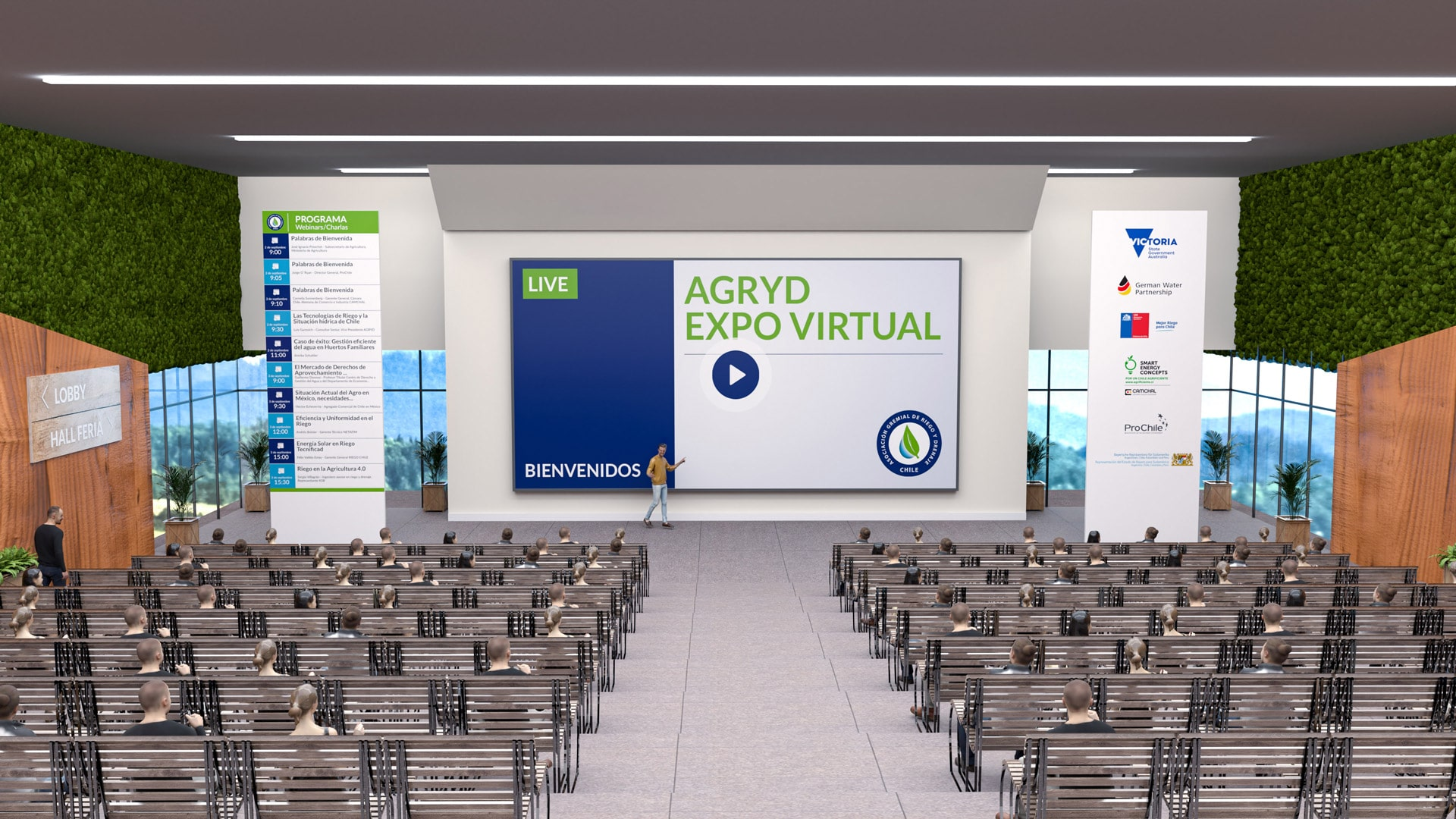 virtual auditorium of the Agryd Virtual Expo