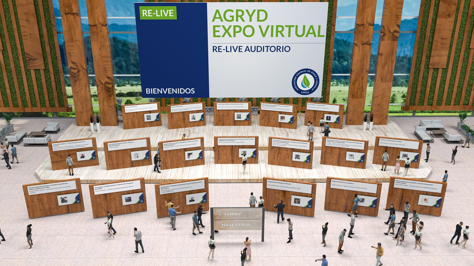 relive auditorium of the Agryd Expo Virtual
