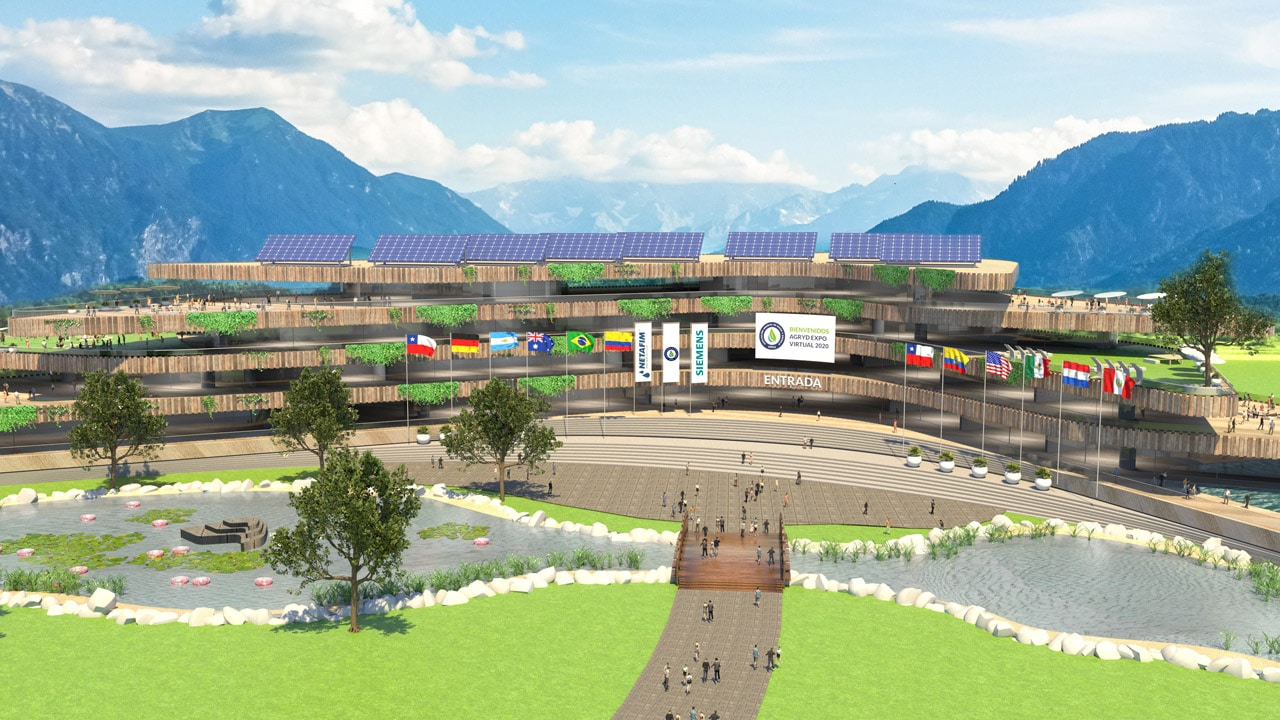 exterior view of the Agryd Expo Virtual