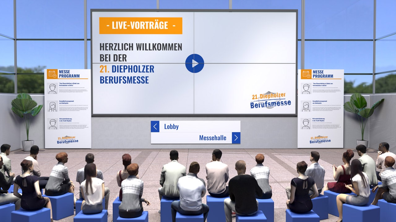 Online lectures in the virtual auditorium