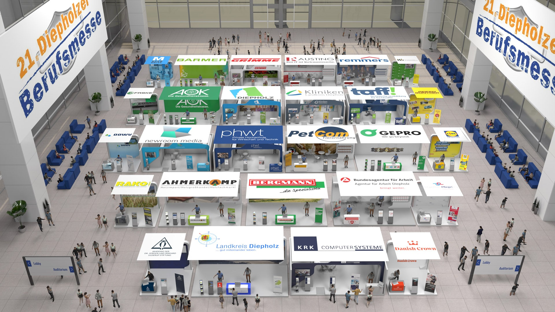 Exhibition hall of the 21st Diepholz job fair
