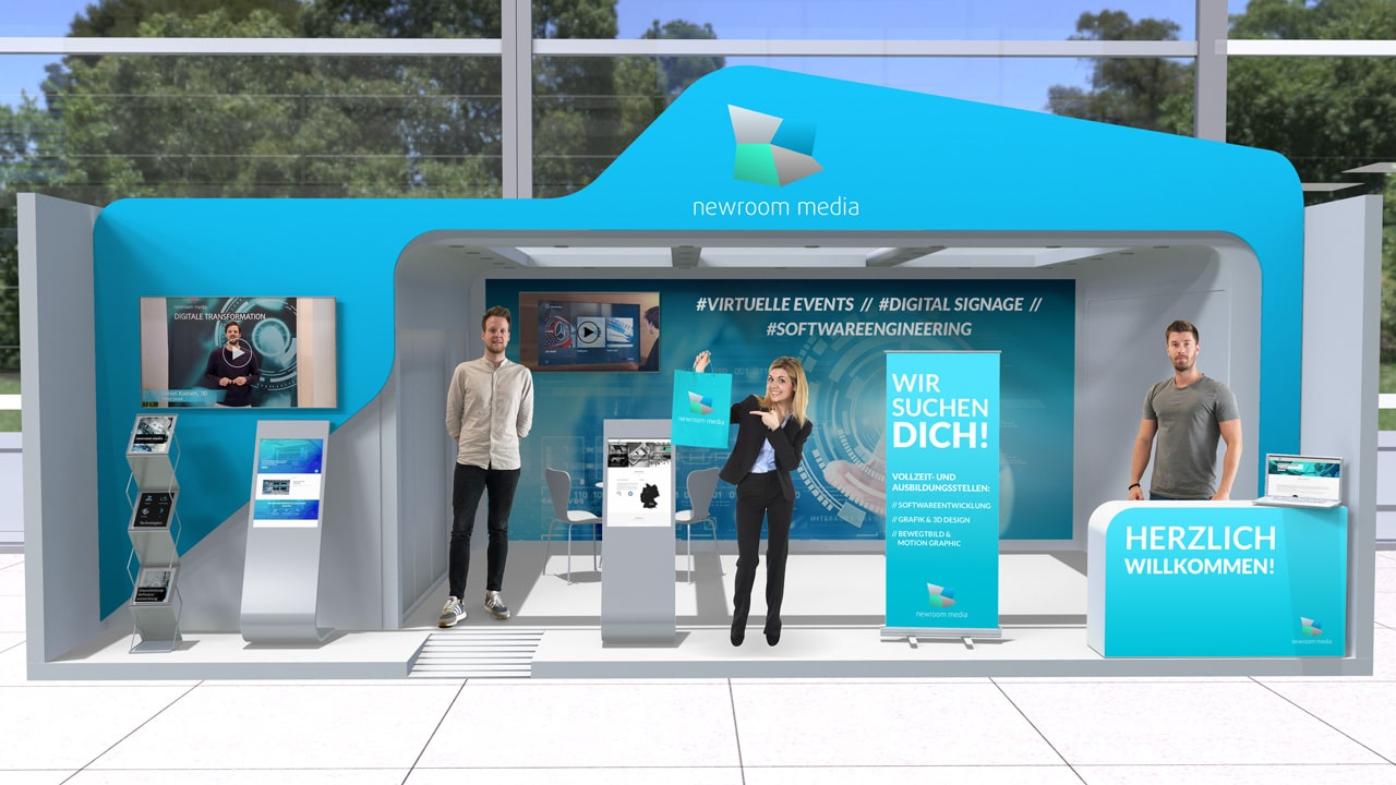 virtual exhibition stand of Newroom Media at the 21st Diepholzer job fair