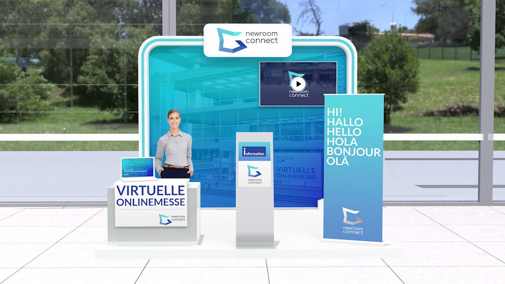 Virtual Expo Booth of Newroom Connect