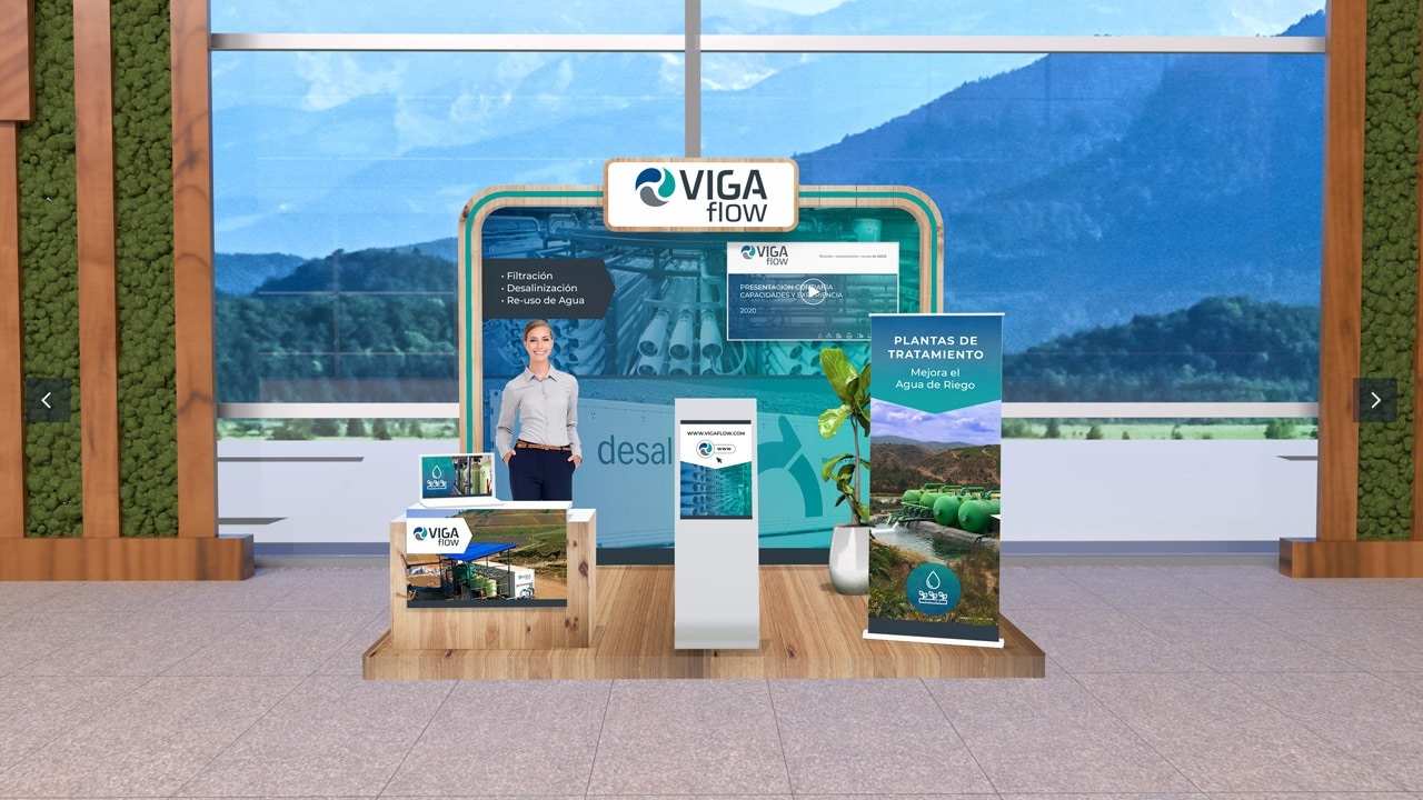 Virtual Expo Booth of Viga Flow at the Agryd Virtual Expo