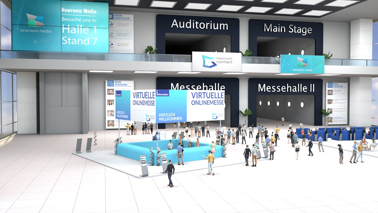 Lobby of a Virtual Online Expo