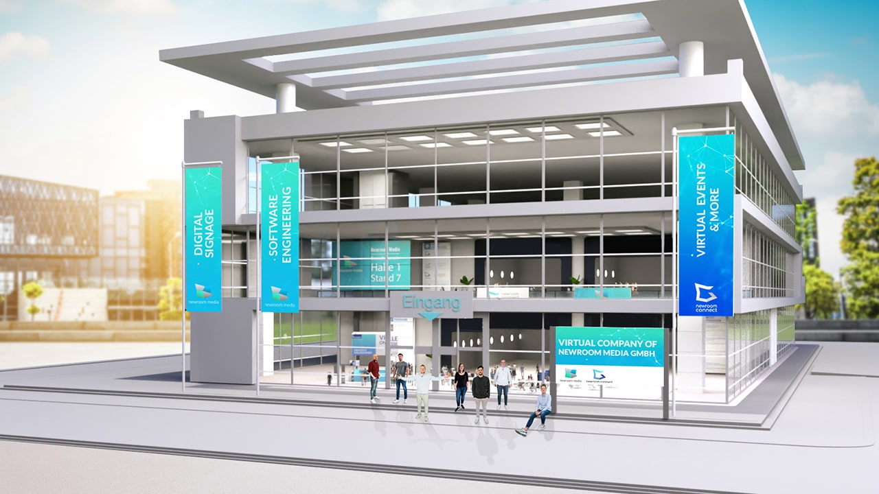Exterior View of a Virtual Online Expo