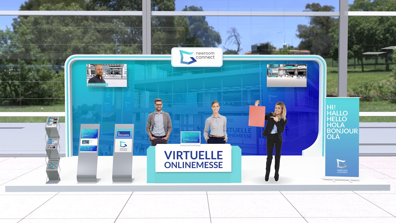 Virtual Premium Expo Booth of Newroom Connect