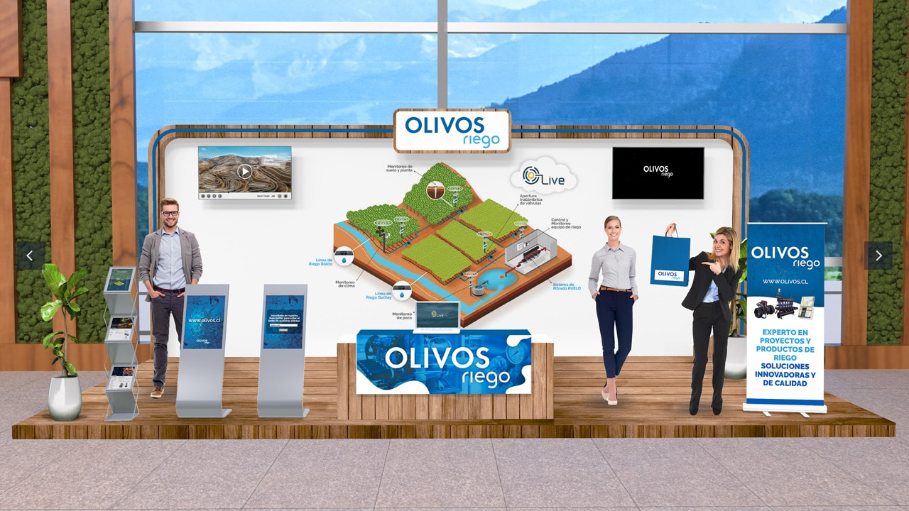 Premium Virtual Expo Booth of Olivos Riego at the Agryd Virtual Expo