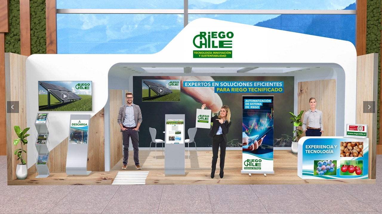 Premium Virtual Expo Booth of Riego Chile at the Agryd Virtual Expo