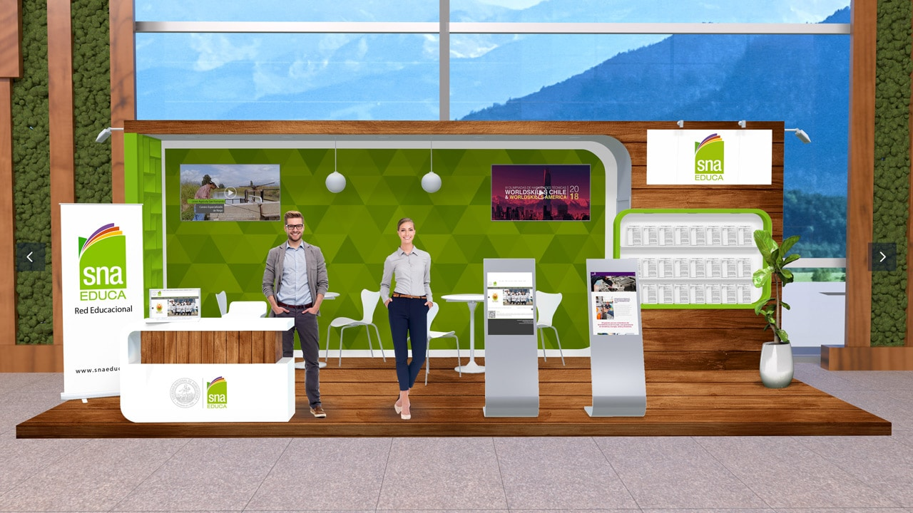 Premium Virtual Expo Booth of SNA Educa at the Agryd Virtual Expo