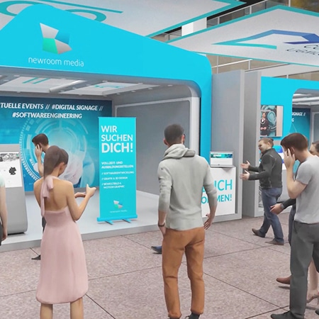3D animation of a virtual expo